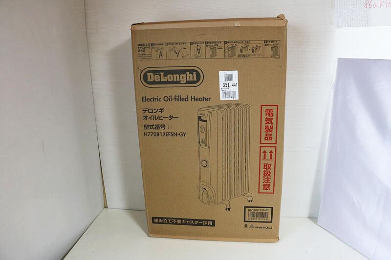 【買取実績】DeLonghi デロンギ H770812EFSN-GY オイルヒーター | 中古買取価格7,500円