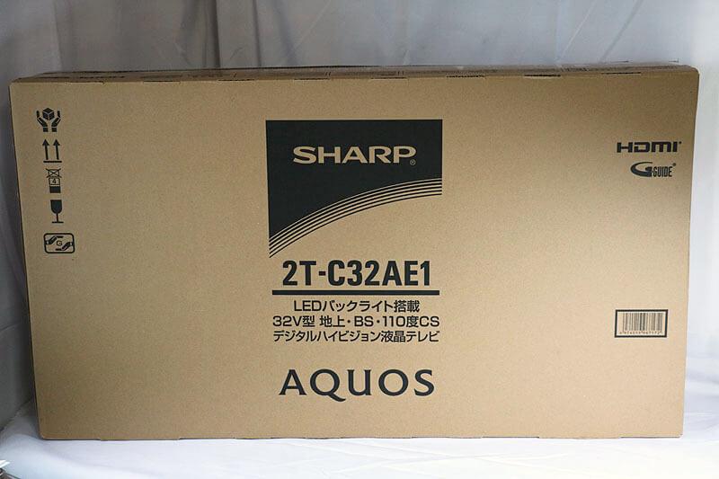 【買取実績】SHARP AQUOS 2T-C32AE1 32V型ワイド 液晶テレビ 2021年製 中古買取価格18,000円