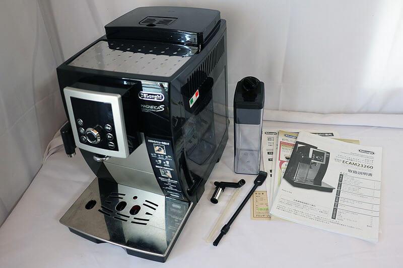 【買取実績】DeLonghi デロンギ マグニフィカSカプチーノスマートコンパクト全自動エスプレッソマシン ECAM23260SB|中古買取価格24,000円